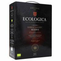 """Ecologica Shiraz & Malbec Reserve 13%, Fairtrade    """"Bag in Box"""" 3L"""