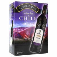 "El Emperador Merlot Red Wine 13% ""Bag in Box"" 3L"