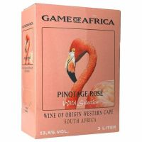 """Game of Africa Pinotage Rose 13%   """"Bag in Box"""" 3L"""