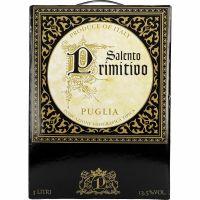 """Salento Primitivo Puglia 13%   """"Bag in Box"""" 3L"""