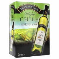 """El Emperador Sauvignon Chile White Wine 13% """"Bag in Box"""" 3L"""