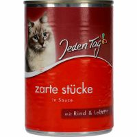 Jeden Tag Cat Food Beef Liver & Sauce 415g